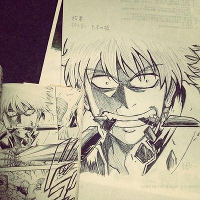 Anime Comic Gintama Gintoki Illust 漫画 銀魂 銀時 絵