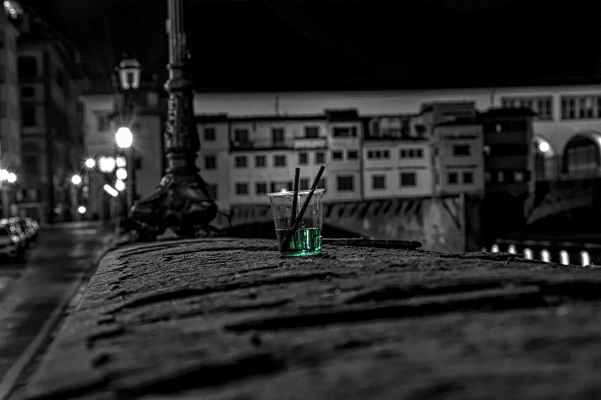 Night Selective Focus Architecture Illuminated Container Still Life Close-up Street Street Light Focus On Foreground City Outdoors