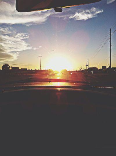 On The Road Sunset Enjoying Life Taking Photos