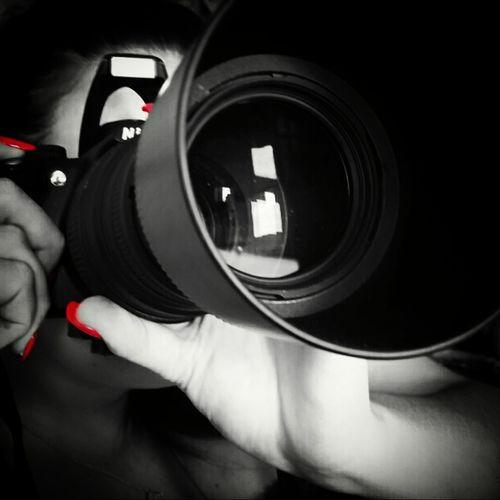 Black And White Red Nikkon Nikkon_D3100 70300mm Rednail