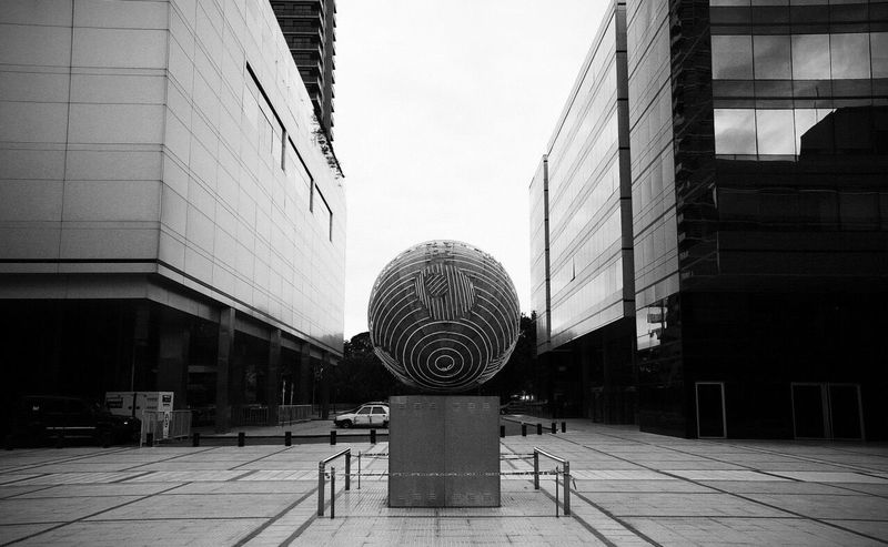 Puerto Madero Balls Blackandwhite Blackandwhite Photography Built Structure Architecture Building Exterior No People Sky Outdoors Day Horizontal