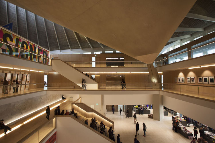 Design Museum London Kensington Architecture Built Structure Day Design Design Museum Design Museum Kensington High Angle View Illuminated Indoor Lighting Indoors  Interior Interior Design Kensington Large Group Of People London Museum Modern People