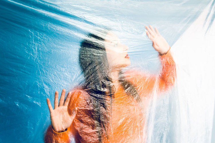 One Person Human Body Part Water Hand Human Hand Adult Nature Women Body Part Real People Lifestyles Sunlight Gesturing Leisure Activity Day Blue Indoors  Human Arm Swimming Pool Human Limb