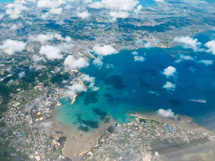 Travelling Sea Nature Water Beauty In Nature Aerial View Outdoors No People Beach Travel Aerial Shot Aeroplane In The Sky Blue Backgrounds Iponeography