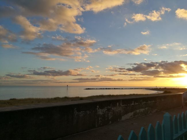 Sunset Beach Sea Coastline Cloud - Sky Tranquility Beauty In Nature Sky Porn