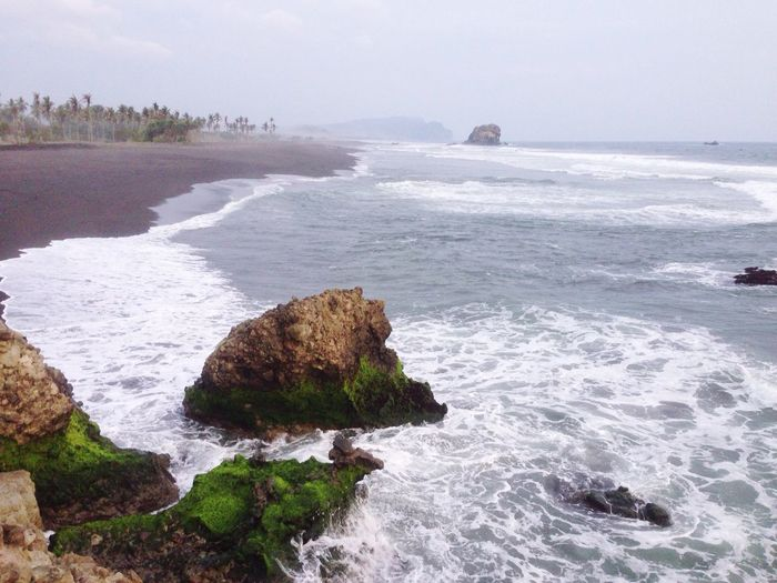 Beach with the black sand have a secret of our future