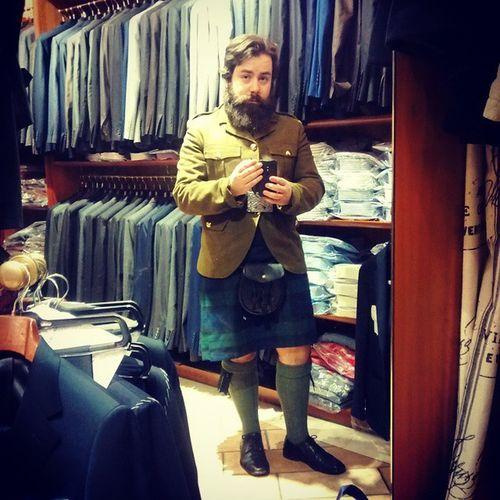 Scot Style at Sartoria  Condotti Napoli Naples Scotland kilt Italy beard