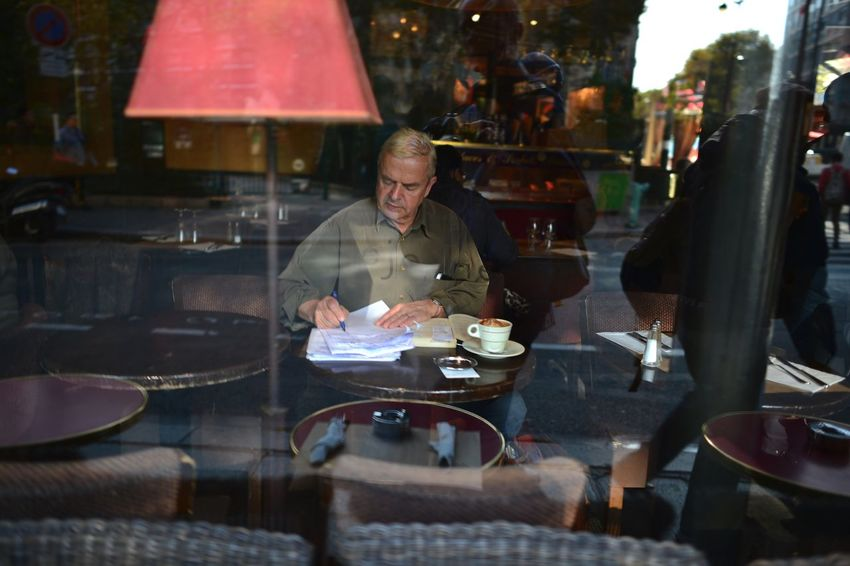 paris café France Streetphotography Business Table Sitting Restaurant Adult Food And Drink Cafe City People