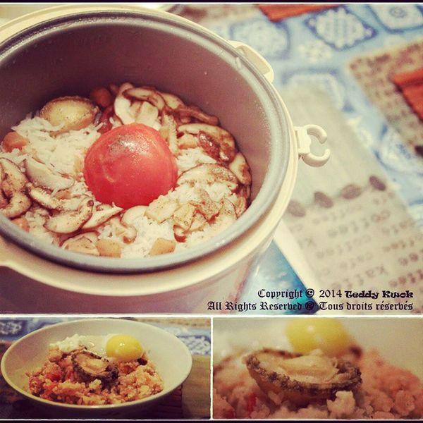 住家男人系列 之 「整個蕃茄飯」 (非健康加強版) Manwhocooks Tomatorice 半生熟蛋 鮑魚 onlinerecipe cookingfun