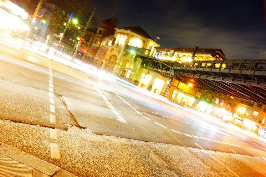 Berlin Home Hood Light Long Exposure Schlesisches Tor Streetphotography Train Station