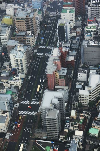 Buildings in city seen from tokyo sky tree