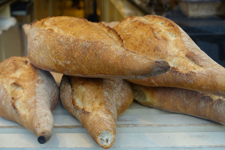 Weissbrot Loaf Of Bread Bakery Bread French Food Baguette Close-up Food And Drink