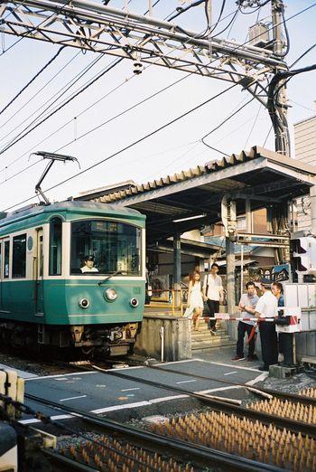 Ultimate Japan Travel Photography Streetphotography Kamakura Enoshima Enoden Film Photography Japan Filmisnotdead Kodak Portra 35mm Film Contax T3 Train Station Everyday Lives