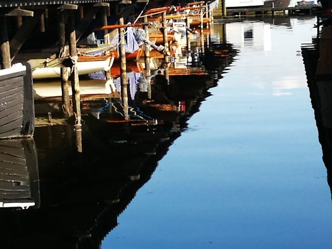 """""""One boathouse"""" Nautical Vessel Water Reflection Moored Day No People Outdoors Gondola - Traditional Boat"""