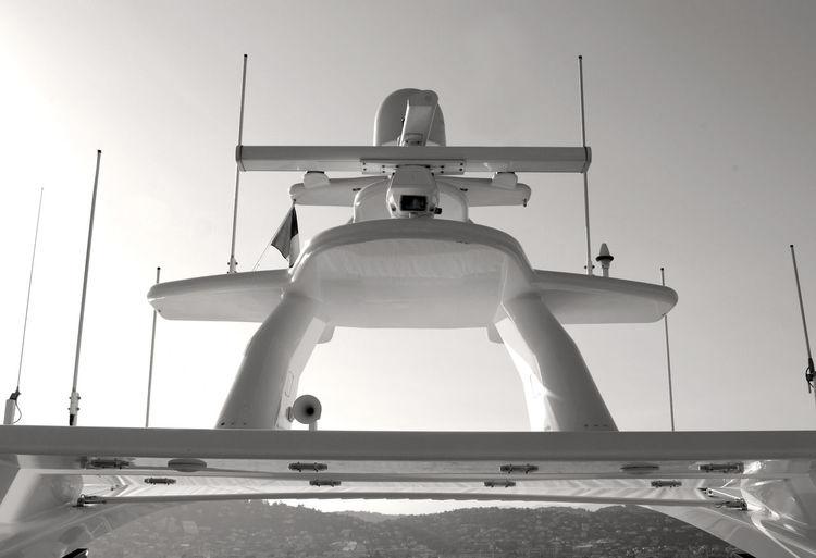 Yacht against clear sky