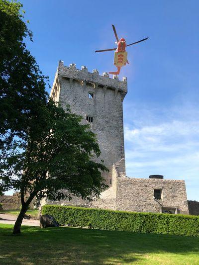 The Irish coast guard perform a rescue operation at Blarney Castle in Ireland Helicopter Coast Guard Ireland Blarney Flare Distress Rescue Emergency Blarney Castle Castle