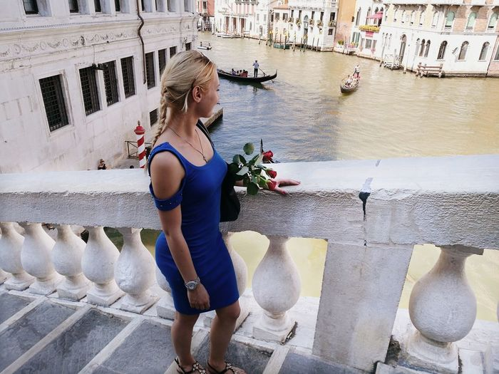 Water Only Women One Woman Only One Person Adults Only Motion Adult Day Outdoors People Full Length Young Adult Young Women Architecture City Capture The Moment Model Modeling Boats Gondola - Traditional Boat Gondolier Venice, Italy Italy Venezia Venice Canals