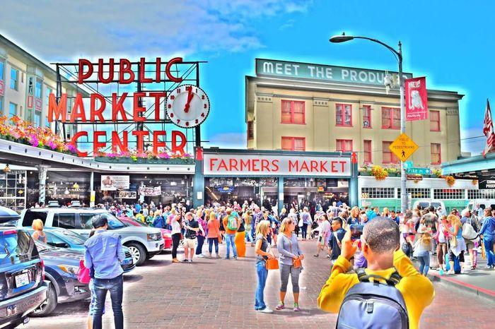 Pike Street Market Seattle Wa. Nikon 5300 HDR setting.