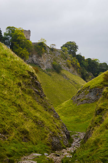 Beauty In Nature Beauty In Nature Castleton Cliff Day Grass Green Color History Place Landscape Moss Mountain Nature No People Outdoors Peak District  Peveril Castle Scenics Sky Tree