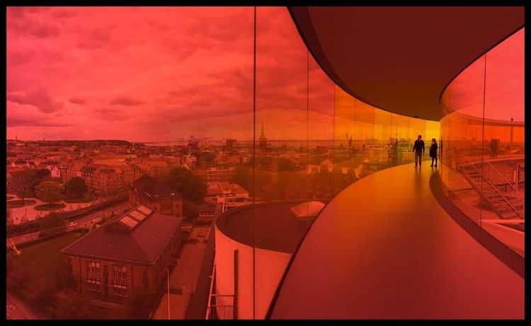 The Purist (no Edit, No Filter) Museum Aarhus Red Rainbow Moderndesign Landscapes With WhiteWall Color Palette