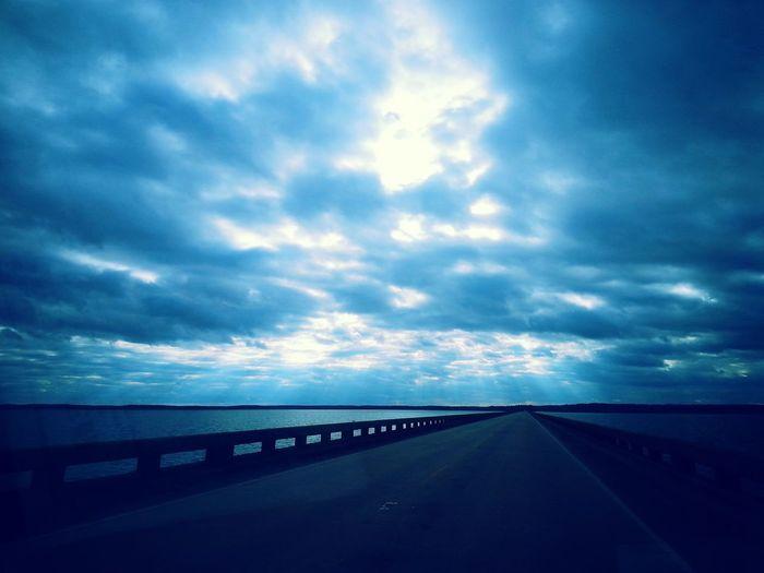 Vanishing Point Clouds And Sky Bridges Texas Skies
