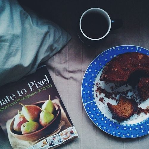 Enjoy your thursday evening! 😊 I am sipping a Tulsi Brahmi tea, eating a wonderful healthy dessert made by @novakova_hana and improving my food photography knowledge with Plate to Pixel book! 📖📷 Break Relax Platetopixel Foodiesfeed food foodsii foodstagram foodgram instafood foodlove foodporn foodstyling foodie eatclean wholefood healthy healthyfood foodphotography nexus5 vsco vscocam vscogood vscofood vsco_food instagood delicious heaveninmouth vscovibe