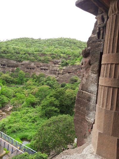 Ajanta caves, birds eye view Architecture History Rock Caves Journeys Ancient Civilization Be. Ready. No People Outdoors Journey Forests Destinations India