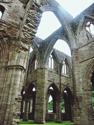 Tintern Abbey 🙌 Tintern Abbey Inside View Monastery Ruin Grass Arches Low Angle View History Architecture Day Built Structure Travel Destinations No People Building Exterior Sky