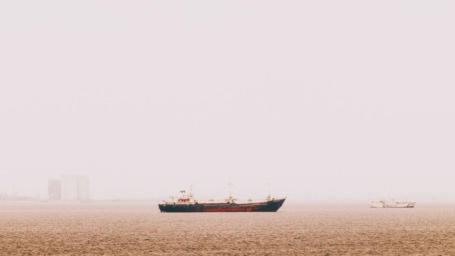 """""""You can never cross the ocean unless you have the courage to lose sight of the shore."""" Capture The Moment I Love My City Ship Cargo Ship Seaport Sea Ocean Sailing Minimalism VSCO Live For The Story"""