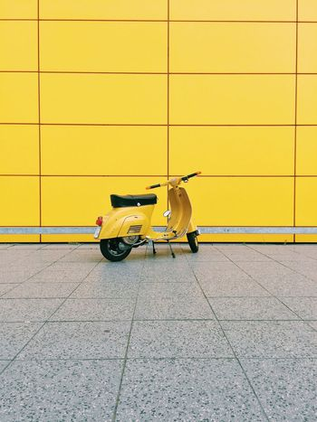 Scooter Yellow Vespa Architecture Motorcycles EyeEm Best Shots Minimalism First Eyeem Photo Colors Colorful