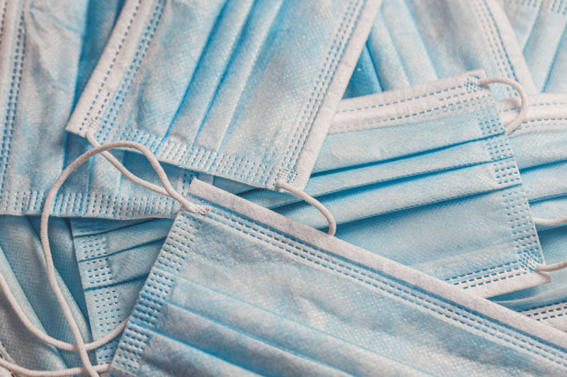 Close-up of clothes against blue background