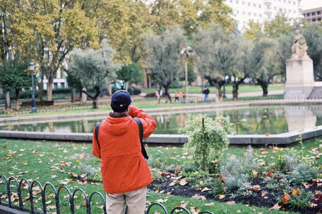 Madrid SPAIN Tree Growth Rear View One Person Real People Nature Plant Men Outdoors Leaf Leisure Activity Women Day Warm Clothing People