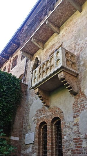 Verona Arch Architecture Building Exterior Built Structure Day History Juliet Balcony Low Angle View No People Outdoors Place Of Worship Religion Sky Spirituality