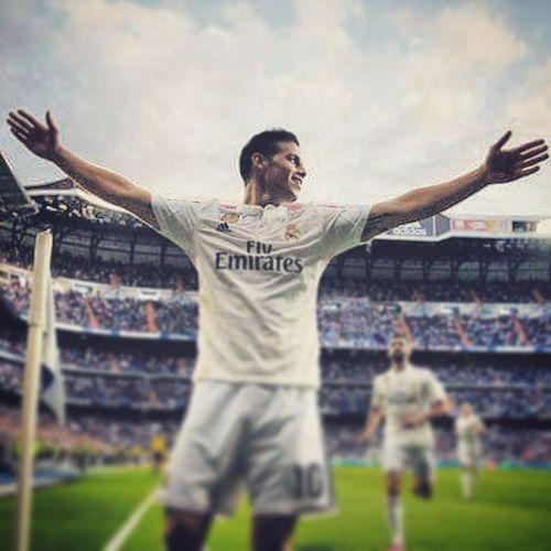 James Rodriguez Halamadrid Realmadrid Real Liga LaLiga Champions Campeones Football SPAIN Madrid HERO