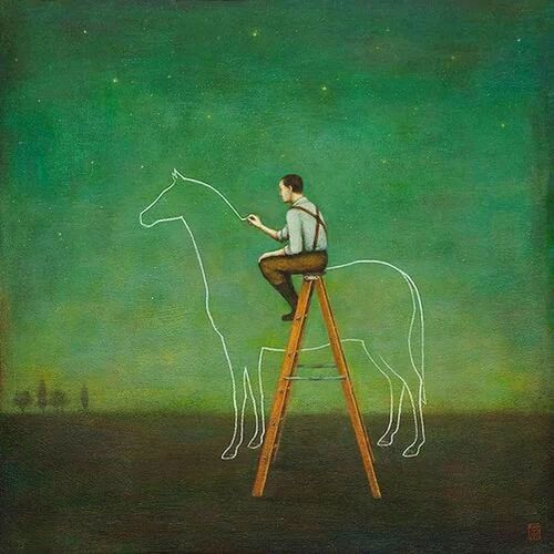 Painting Drawing Horse Man Taking Photos Great Views Picture Artpeopleatopening Art EyeEm Best Shots