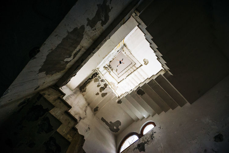 Low angle view of historic building