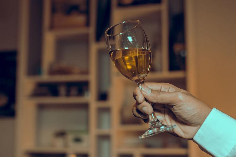 glass wine in