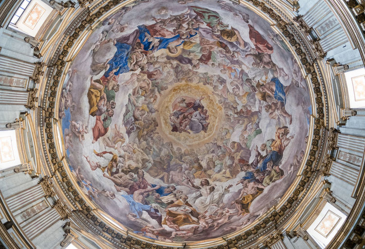 roof of San Gennaro chapel in Naples dome. Chapel Naples Naples, Italy Architecture Built Structure Dome Fresco History Religion San Gennaro Travel Destinations