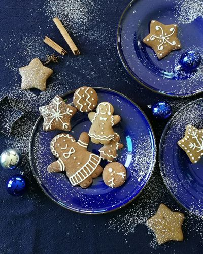 Top view food styling for Christmas. No People Indoors  Close-up Star - Space Day Astronomy Christmas Decoration Food And Drink Food Styling Food Stylist Festival New Year Celebration Cookies Decoration Christmas