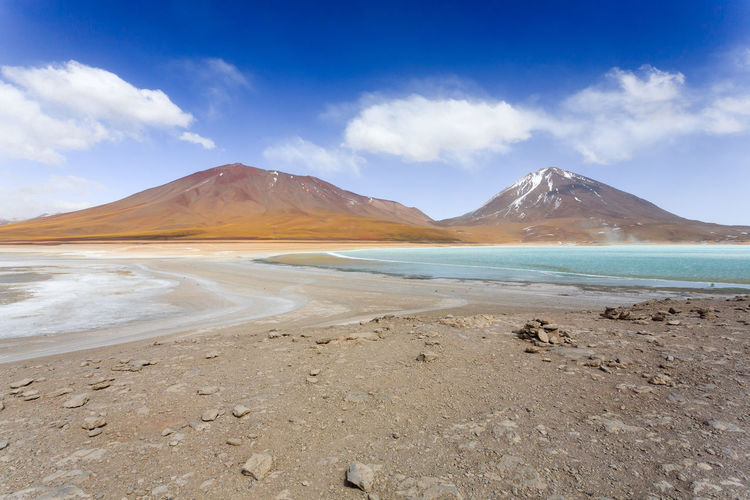 Laguna Verde landscape,Bolivia.Beautiful bolivian panorama.Green lagoon and Licancabur volcano Bolivia Laguna Verde Licancabur Licancabur Volcano Potosi Potosi Altiplano Altitude America Andean Andes Background Beauty Bolivian Colored Emerald Green Green Lake Highest Idyllic Lagoon Lake Landmark Landscape Latin Mountain Nature Outdoor Outlook Panorama Plateau Salt Scenery South South America Sur Lipez Tourism Travel Turquoise Volcano Water Waterhole Wetland Wild